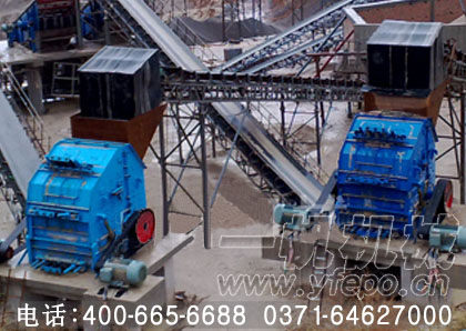 湖南衡阳400t/h石料生产线中的生产现场